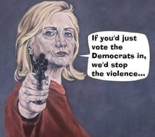 hillary - stop the violence